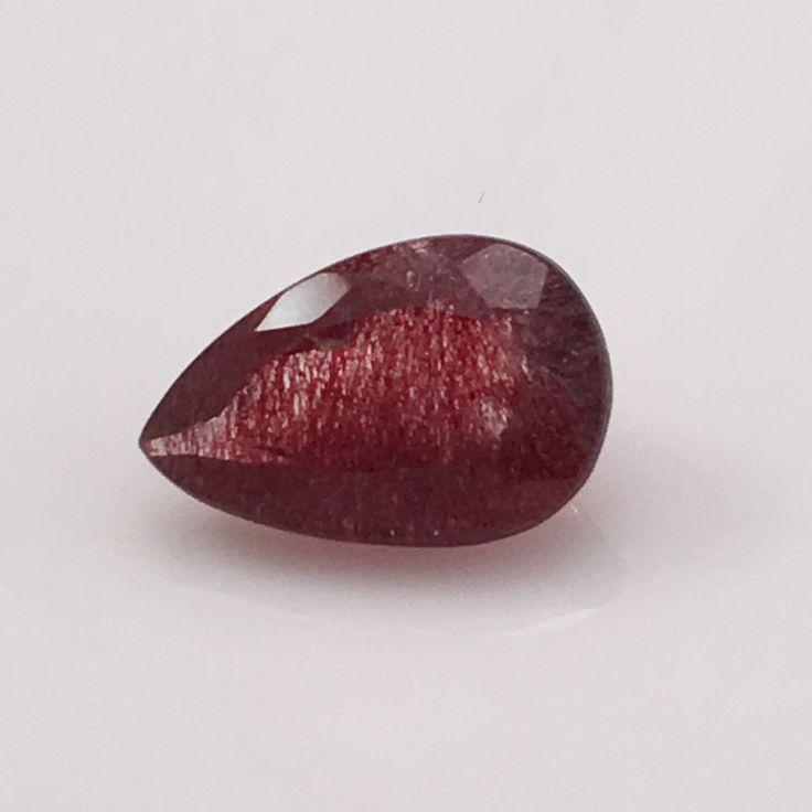 7.3 carat Speckled Strawberry Rutile Gemstone