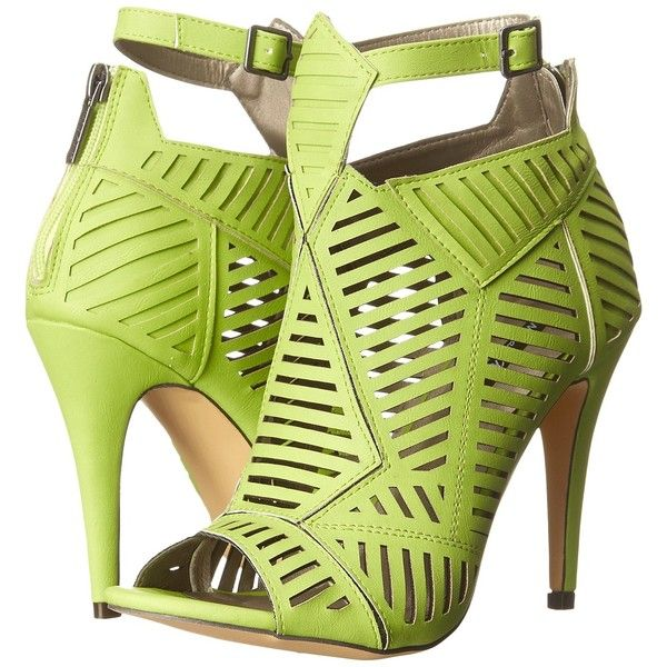 Michael Antonio Jyst (Lime) High Heels ($30) ❤ liked on Polyvore featuring shoes, sandals, green, lime sandals, high heel sandals, open toe shoes, michael antonio sandals and green high heel shoes
