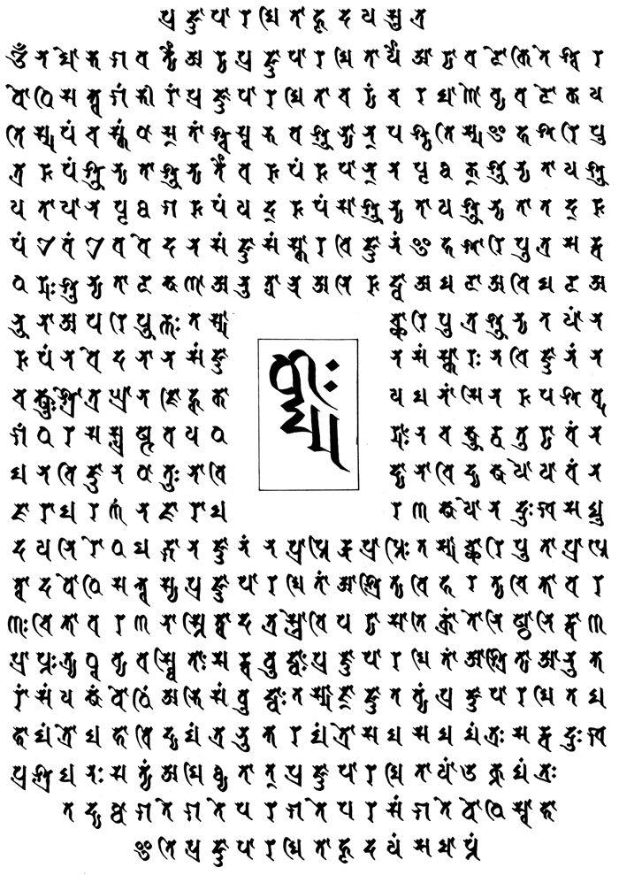 Heart Sutra - Prajñāpāramitahṛdayam Sūtra - Sanskrit text and Siddhaṃ calligraphy