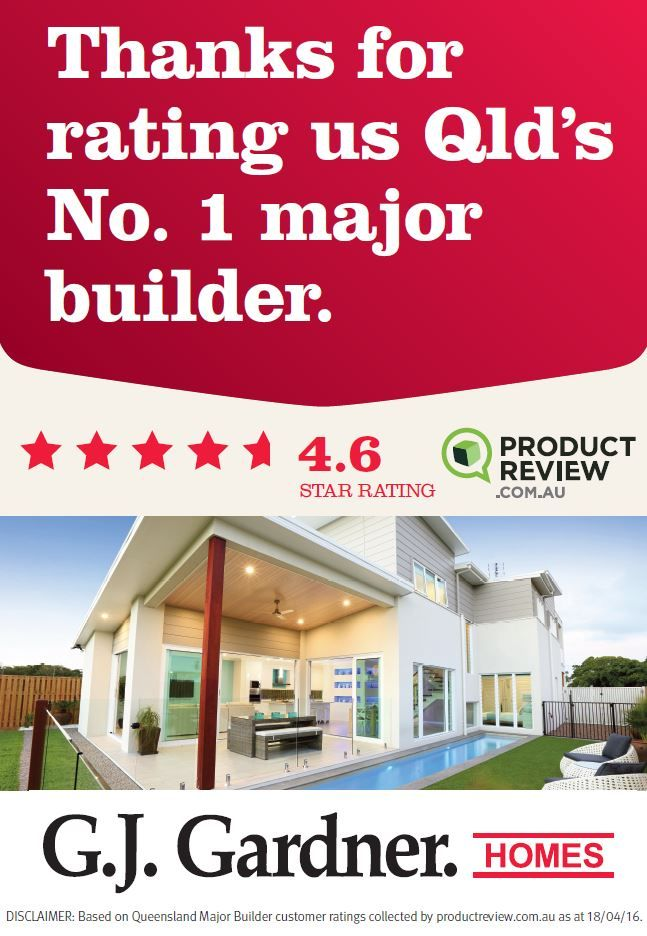 Thank you #ProductReview for rating G.J. Gardner Homes #GJQLD your Number 1 #MajorBuilder! We love #HappyCustomers! Allow yourself to imagine the lifestyle you've always wanted, in the home you deserve! ph:132 789 www.GJGardner.com.au