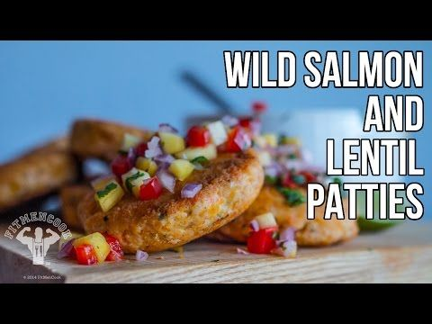 Salmon & Lentil Patties with Mango Salsa from Fit Men Cook | Vitamix Recipe  Get Free shipping on any #Vitamix with code 06-006499 https://www.vitamix.com/Shop?COUPON=06-006499