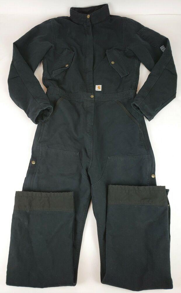 7fe73fae6cb2b eBay #Sponsored Carhartt - Womens Weathered Duck Wildwood Bib Overalls Black  Medium Tall