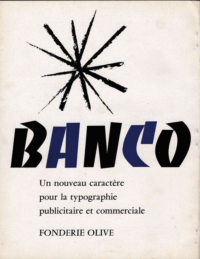 Roger Excoffon – Banco, Fonderie Olive