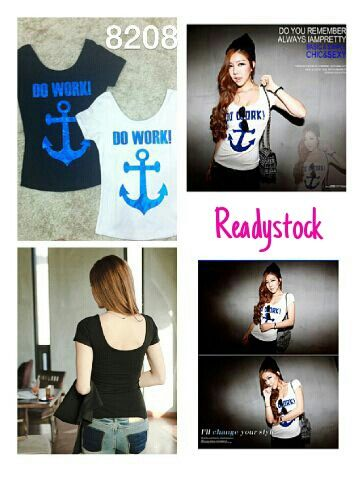 Do work anchor tee  ♡ high quality fabric ♡ all size