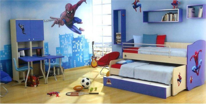 Kids Bedroom With Spiderman Themes 15 Kids Bedroom Design With Spiderman  Themes