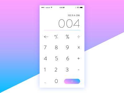 Daily UI 004 - Calculator