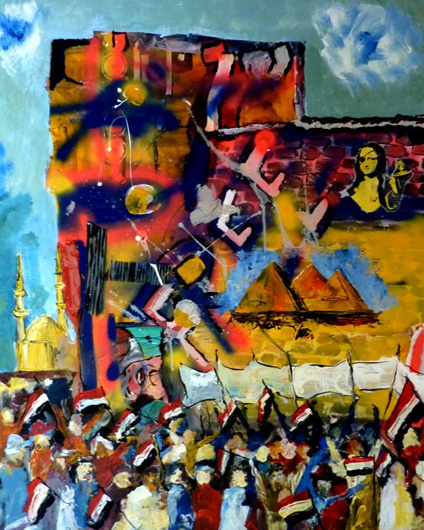 Mona Lisa Brigades – Street-Art als Widerstand in Kairo  Eine Gruppe junger Street-Art-Künstler in Kairo nennt sich Mona Lisa Brigades. Auf der Basis des berühmten Gemäldes von Leonardo da Vinci haben sie ihr eigenes Logo entwickelt. Mona Lisa trägt hier eine Augenklappe und hält eine Spraylackdose in der Hand. Die Augenklappe weist auf die Angriffe der Polizei hin. Mit Gummigeschossen feuerte sie gezielt auf Demonstranten. Viele verloren ihr Augenlicht. Mona Lisa ist auch ein Hinweis…