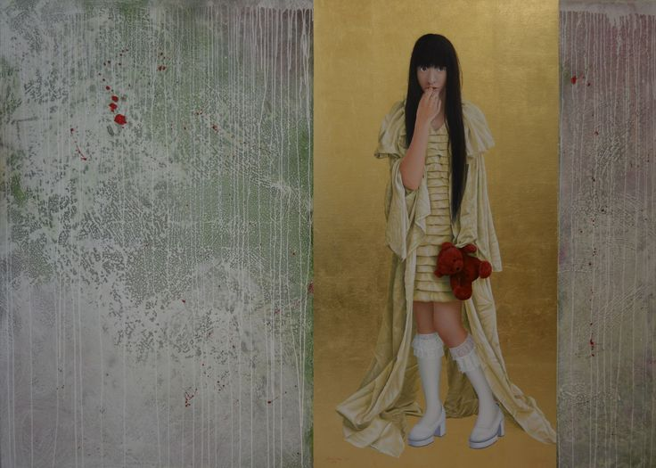 Would you like to see my new dress? 130 X 160 cm.  oil on linen. Available.