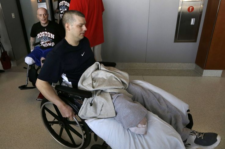 Marathon bomb victims adjust to a different normal - rehabbing together.  Brothers carry on...