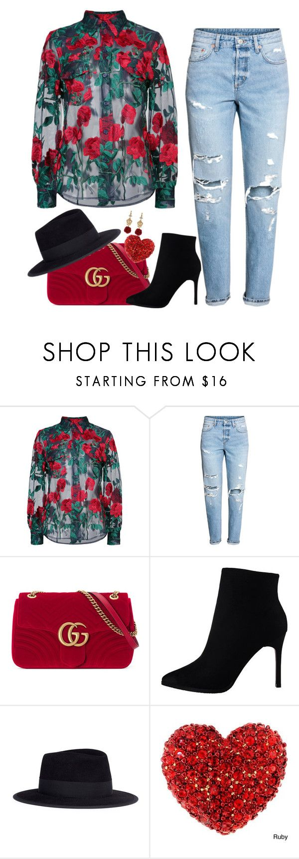 """""""Bloom"""" by brooklyncharden on Polyvore featuring Adam Selman, Gucci, Maison Michel and Dolce&Gabbana"""