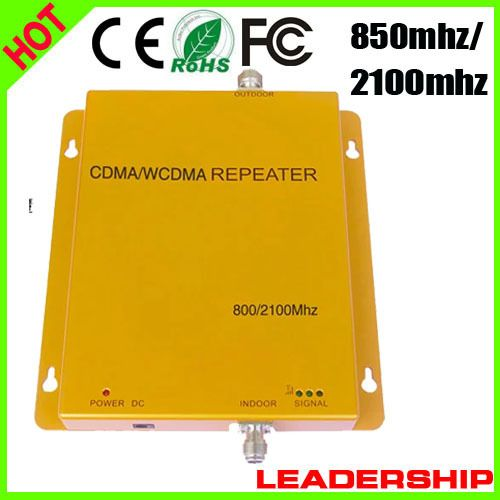 Manufaturer Free shipping CDMA/WCDMA 850MHZ/2100MHZ 3G  cellular mobile/cell phone signal repeater booster amplifier detector