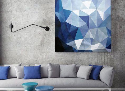 Abstrakt Tavla - Blå Safir