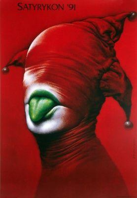 Satyrykon 91, Wieslaw Walkuski; Polish Poster