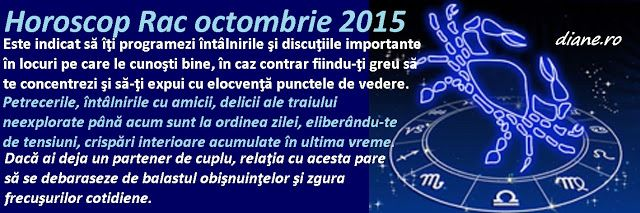 diane.ro: Horoscop Rac octombrie 2015