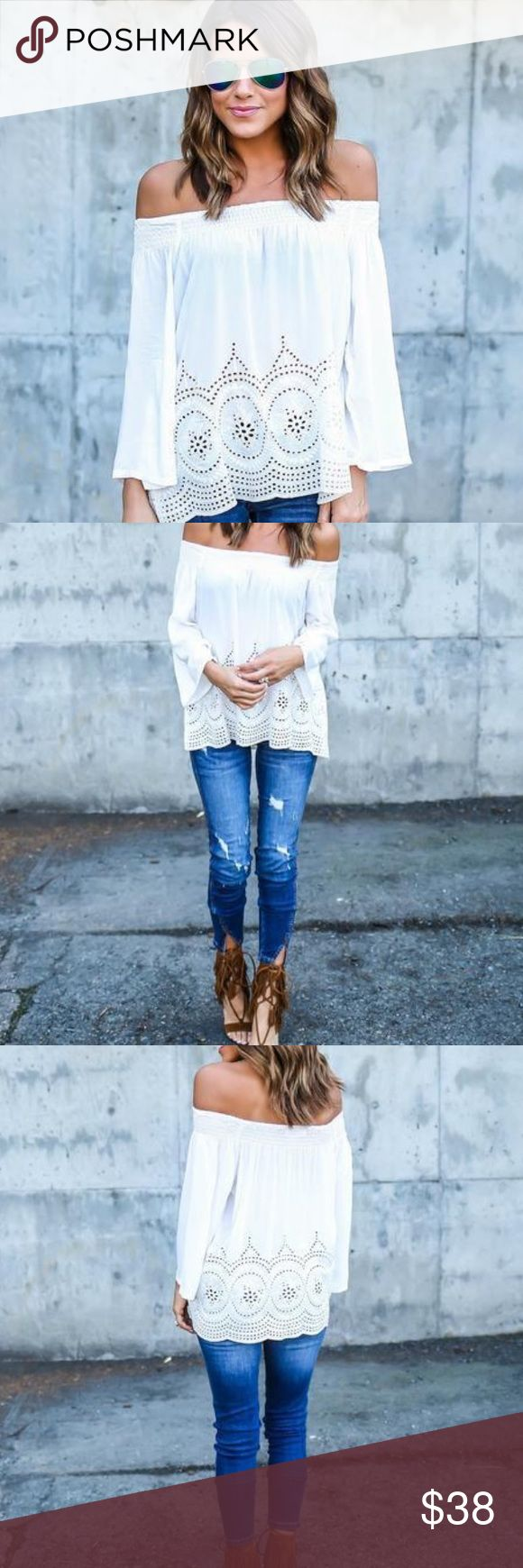 Vici Collection Ulysses Top in White Brand new with tags! Selling because I received one as a gift as well. Sold out on their website! Most popular instagram top. Adorable for spring and summer vici Tops Blouses