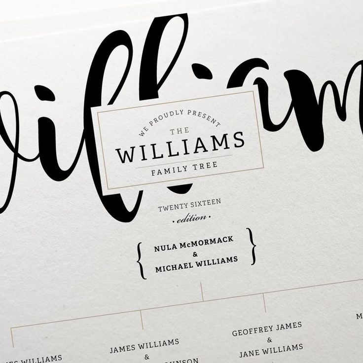 Family Tree | Hand Lettering | Paper Goods | Wall Art | Ginny & Jane