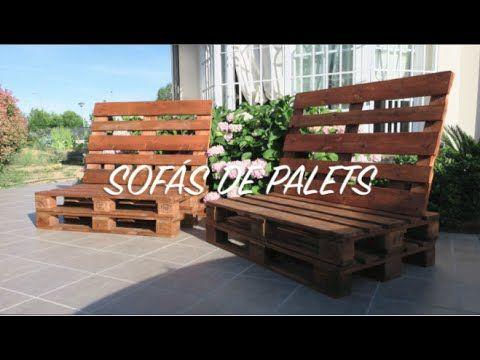 Sofá de palets paso a paso - YouTube