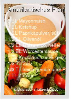Leckeres Amerikanisches French Dressing Rezept mit einfacher Schritt-für-Schritt-Anleitung: Allen Zutaten vermischen , Mit beliebigen Salat servieren...