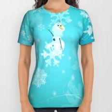 olaf in the snow All Over Print Shirt