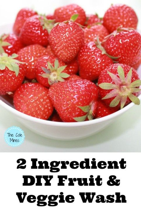 2 Ingredient Fruit And Veggie Wash - The Cole Mines