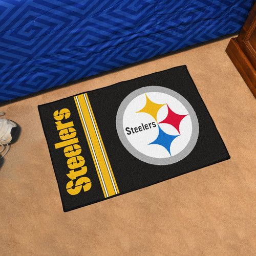 """Pittsburgh Steelers Uniform Inspired Starter Area Rug Floor Mat 20"""""""" X 30"""""""""""