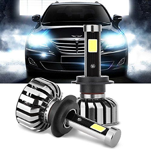 From 35.99 H7 Led Headlight Bulbs Conversion Kit 80w 6000k 8000lm 12v Super Bright Car Exterior White Canbus Headlamp Cob Light Bulb Replace For Halogen Or Hid