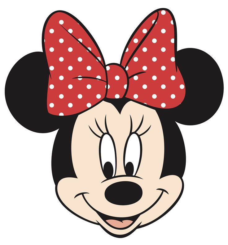 Simple, good quality Minnie Mouse image- print onto t-shirt transfer paper/iron onto cheap white t-shirt to make Tay's shirt for Disneyland/CA Adventure