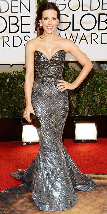 Kate Beckinsale - 2014 Golden Globes: Red Carpet Arrivals - Golden Globes 2014 - Celebrity - InStyle