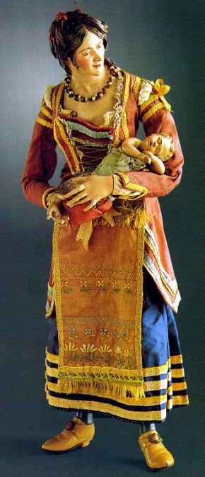 Statuina nel presepe napoletano del 1700