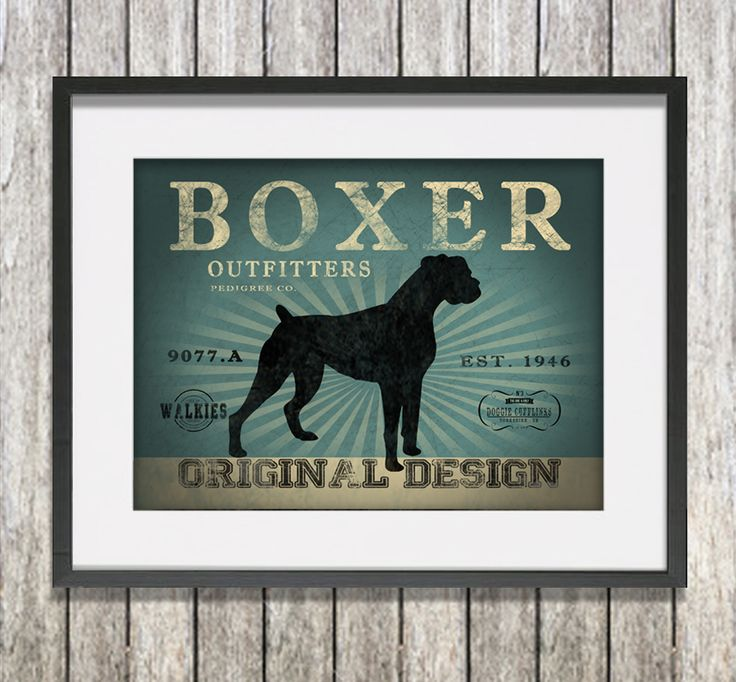 Boxer Outfitters Canvas print. Blue wash.  www.monkeyofthenorth.co.uk
