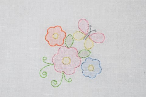 SE1007 Shadow Embroidery Butterfly and Flowers - KLD Embroidery Designs