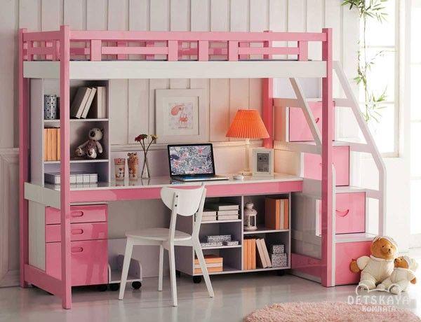 кровать чердак для девочки подростка