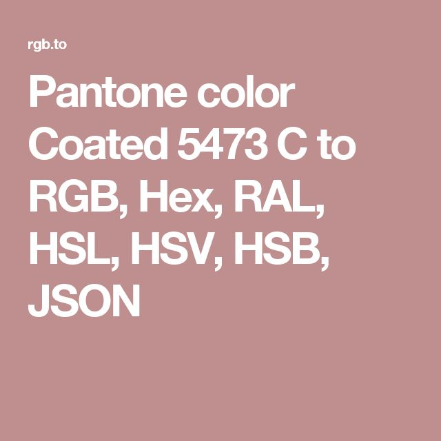 pantone color coated 5473 c to rgb hex ral hsl hsv