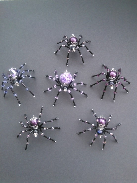 bead spiders inspired by Twisted Spiders, SJ