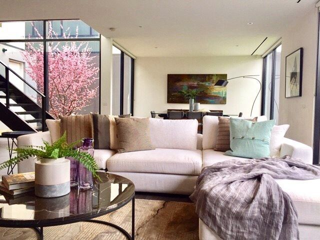 Classy contemporary for this amazing KewVIC home.  #StyleThatSells #StyledByValiant #ValiantPropertyStyling #valiantstyling #HomeForSale #Melbourne #Kew #Contemporary #cherryblossoms