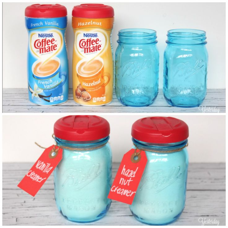 As fate would have it, Coffeemate lids fit perfectly onto mason jars. This blogger dressed up her coffee corner by storing the powdered creamer inside cute jars, but you can also use this trick to store and pour coffee, sugar, or grains. Get the tutorial at Yesterday on Tuesday » - GoodHousekeeping.com