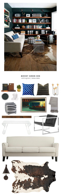 Copy Cat Chic Room Redo | Moody Green Den