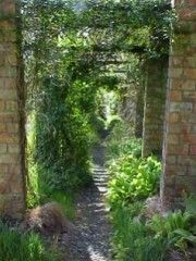 The walled Jura House Garden, Isle of Jura, Scotland
