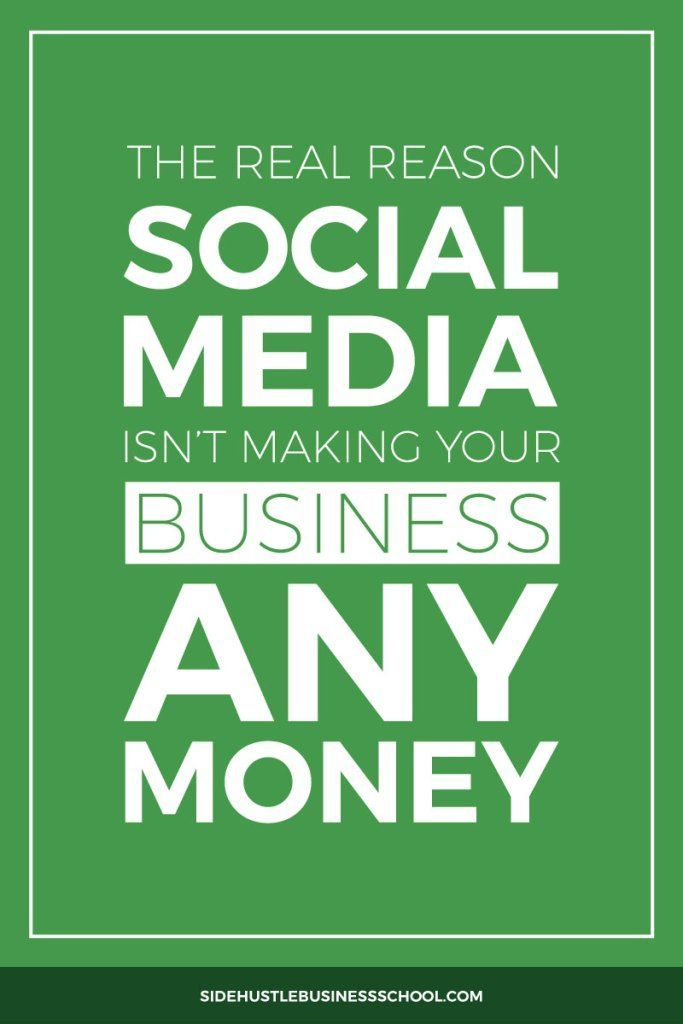 Why You Can't Make Money From Social Media Pin | Side Hustle Tips | Social Media Tips | Engagement | Grow Your Audience | Entrepreneurship | Solopreneur | Freelancer | Freelance Tips | Find Clients | Business Tips | Find New Clients | Be Booked Out