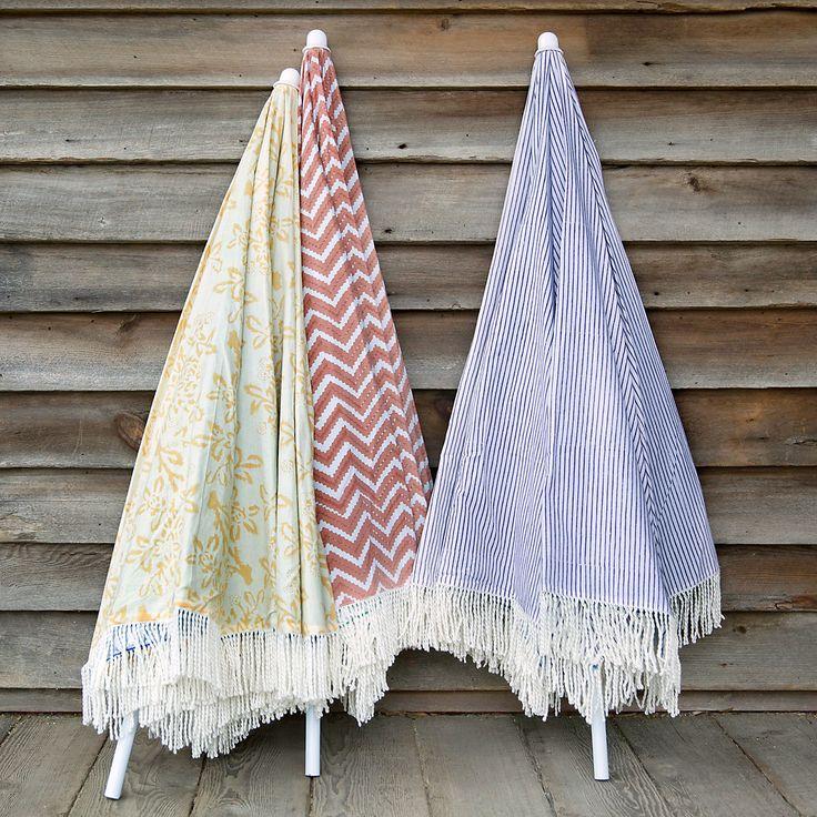 Printed Beach Umbrella in Outdoor Living FURNITURE + ACCENTS Beach + Patio at Terrain