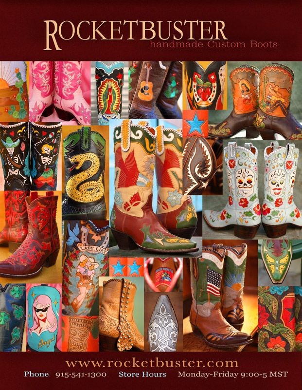 A must-see destination in El Paso, TX. Click for more info on Rockebuster Boots.