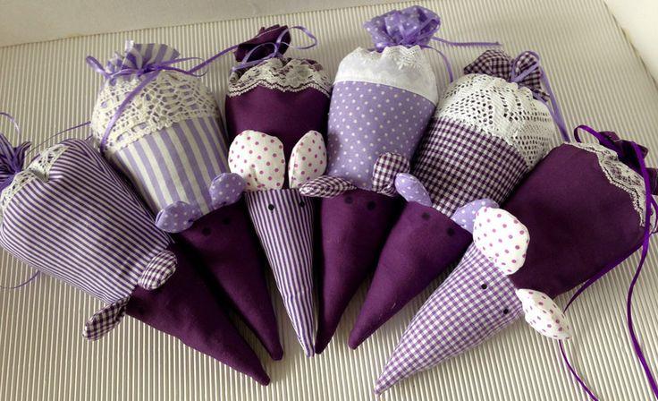 Duftkissen & -säckchen - Duftmaus Lavendel - ein Designerstück von gittirai bei DaWanda