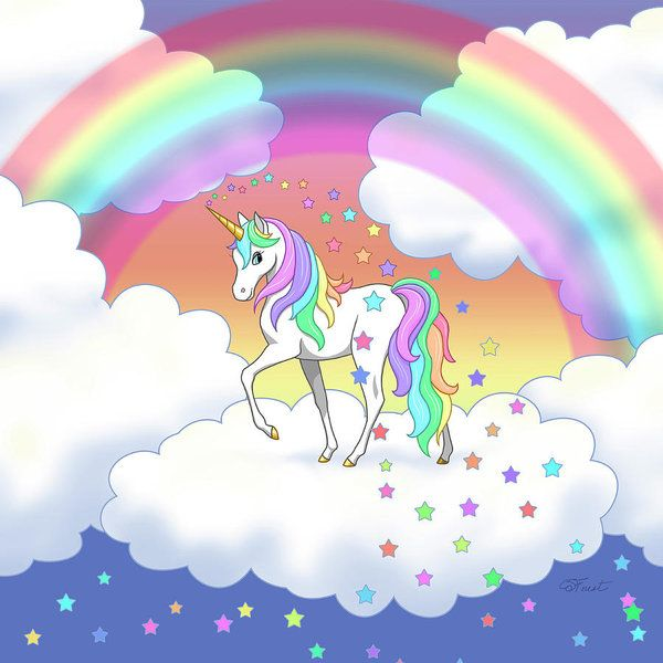 23 45 Unicorn Poster Featuring The Digital Art Rainbow Unicorn