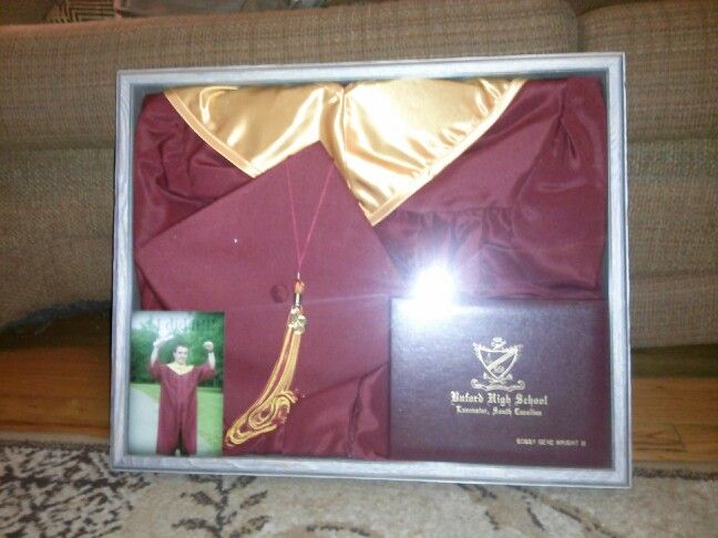 Cap and gown shadow box