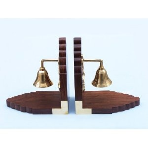 Bell Book Ends - Brass Hand Bells - Nautical Decor Home Decoration - Executive Promotional Gift (Toy)  http://www.howtogetfaster.co.uk/jenks.php?p=B003B3SJN8  B003B3SJN8