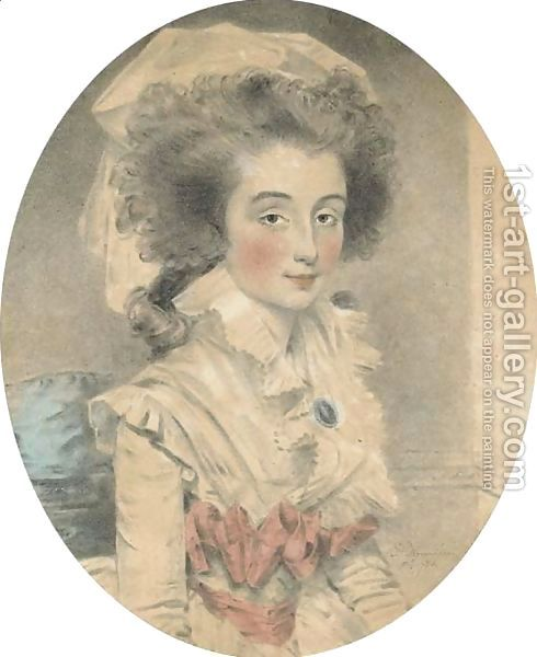 John Downman:A portrait of Mrs Shuttleworth