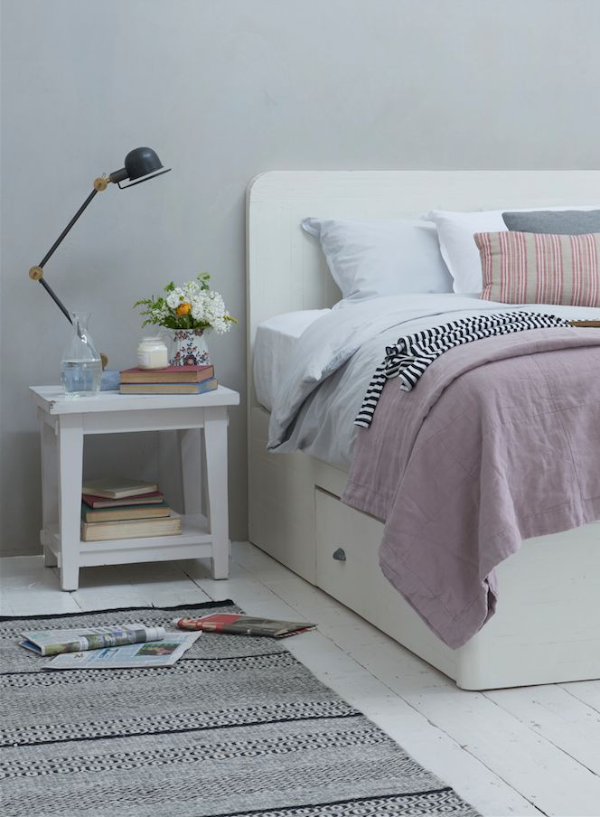Our Woody storage bed in vintage white
