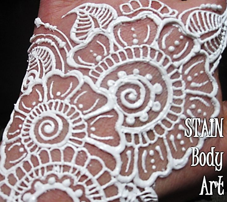 """Nuit Blanche: STAIN COSMETICS' latest creation. The ALMOST all-natural """"white henna"""" body paint 