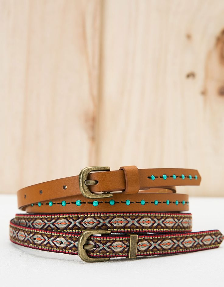 *BERSHKA || Set of ethnic and pearls belts |  Set cinturones étnico y perlas