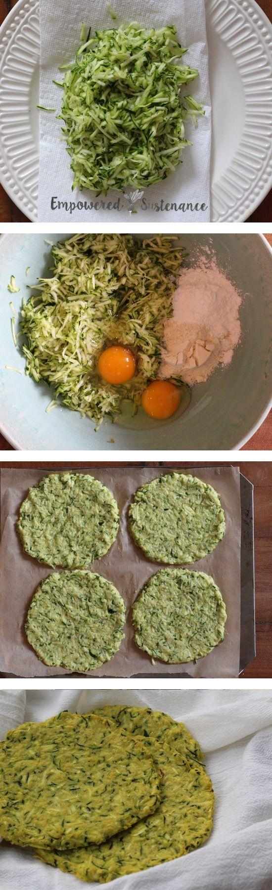 Paleo Zucchini Flatbread    5 ingredients, 10 minutes prep.